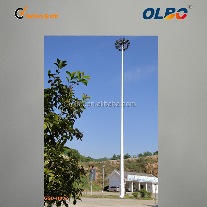 15-45meters galvanized polygon auto lift high mast lighting pole