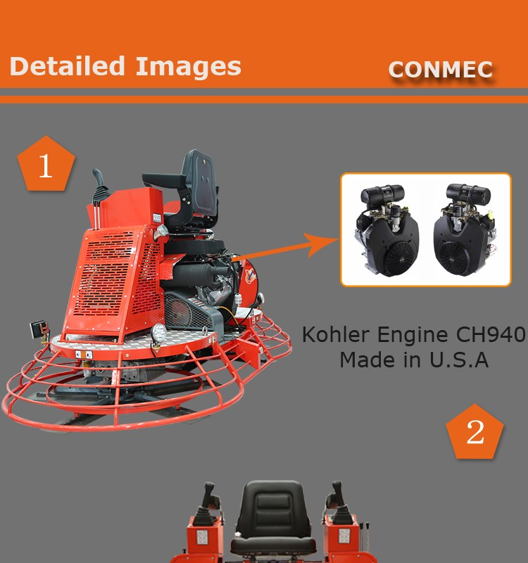 Ride on trowels machine with Kohler engine concrete screed machine