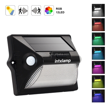 solar lamp street 12 LEDs 7 Color Changing Wireless Waterproof Security Wall Light for Outdoor Garden Patio Yard