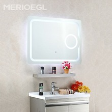 Wholesale price new style home decorative mirror, bath mirror with led light