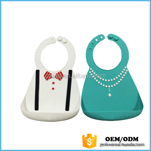 wholesale custom food grade silicon baby bibs for kids BIB108