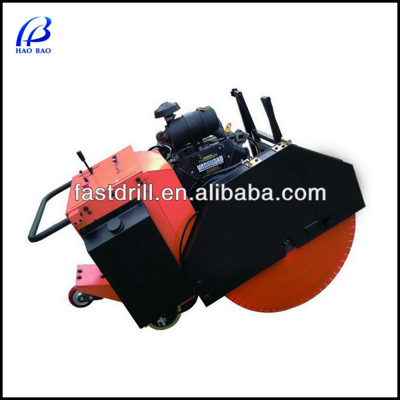 HXR-900 double blade 370mm cutting depth walk behind floor saw in concrete cutting machine