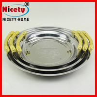 hot sale metal golden tray/tray stainless steel/fruit tray