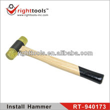 wood handle install hammer