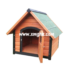 Apex roof wooden folding dog house