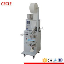 Semi automatic tea bag packing machine with thread and label