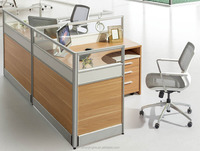 T shape office partition desk/workstation