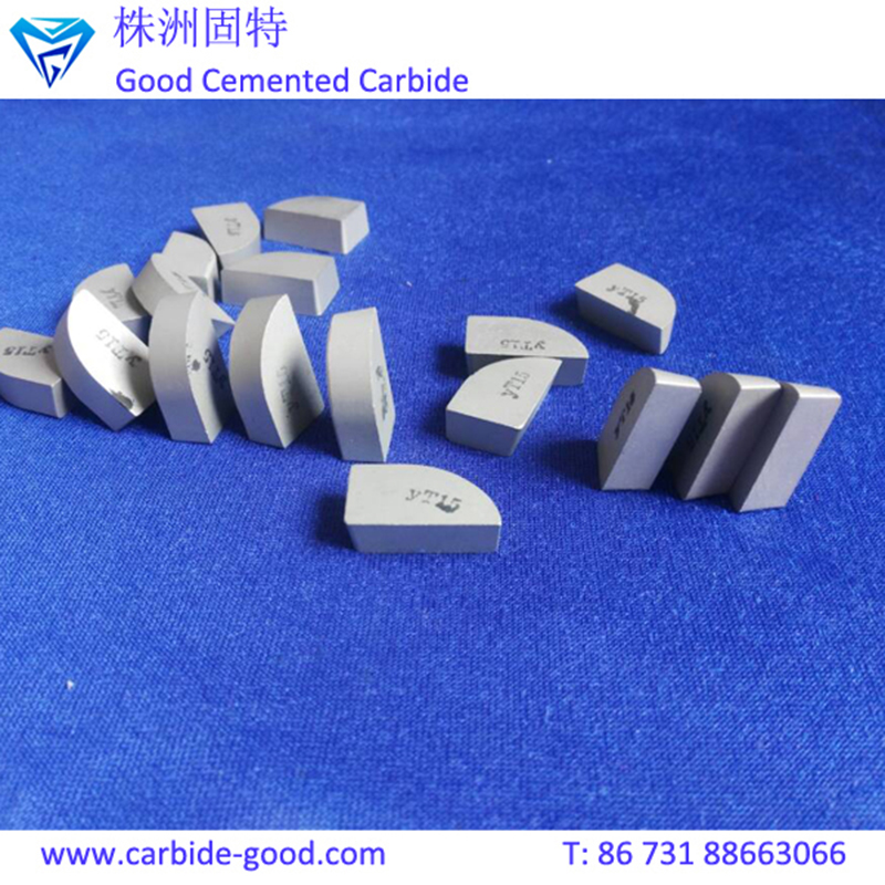 solid carbide YG8 YT15 cutting saw tips brazed tungsten carbide tip
