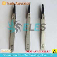Anti-static Stainless Tweezers,ESD Exchanged Tip Tweezer,Anti-Static Head Changeable Tweezers