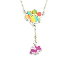 Yiwu Factory Kids Dogs Paw Puppy <strong>Necklace</strong>