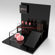wholesale Black Acrylic Multiple Cosmetic Display Stand for Different Makeup Products and Tools