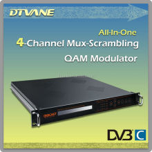 Multi Function Scrambler QAM digital tv modulator DVB-S2 to DVB-C