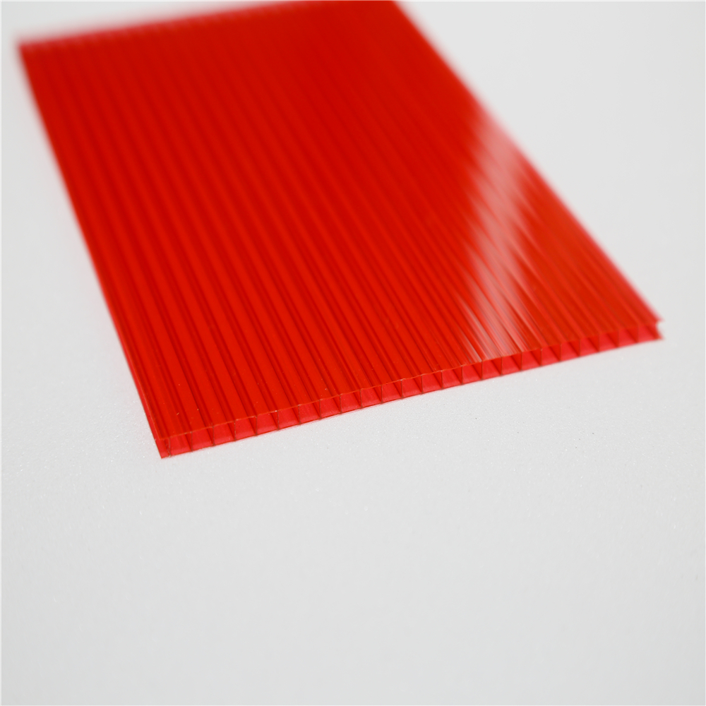 Twin Wall Colored Polycarbonate Hollow Sheet For Green