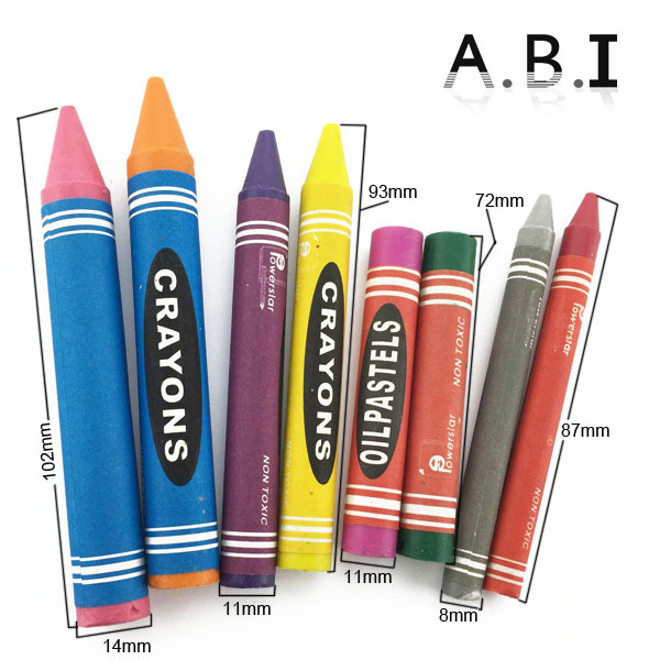6 12 color Nontoxic oil pastel wax crayon set