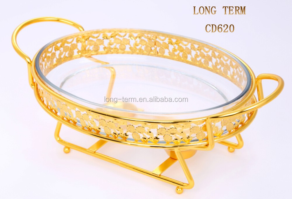 CD620 Golden Oval Shape Induction Chafing Dish
