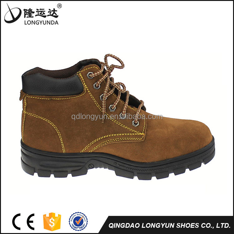 2017 new style suede leather safety shoes for men
