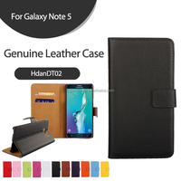 Real Leather Case for Samsung Galaxy Note 5 Genuine Leather Case,Note 5 Mobile Phone Case
