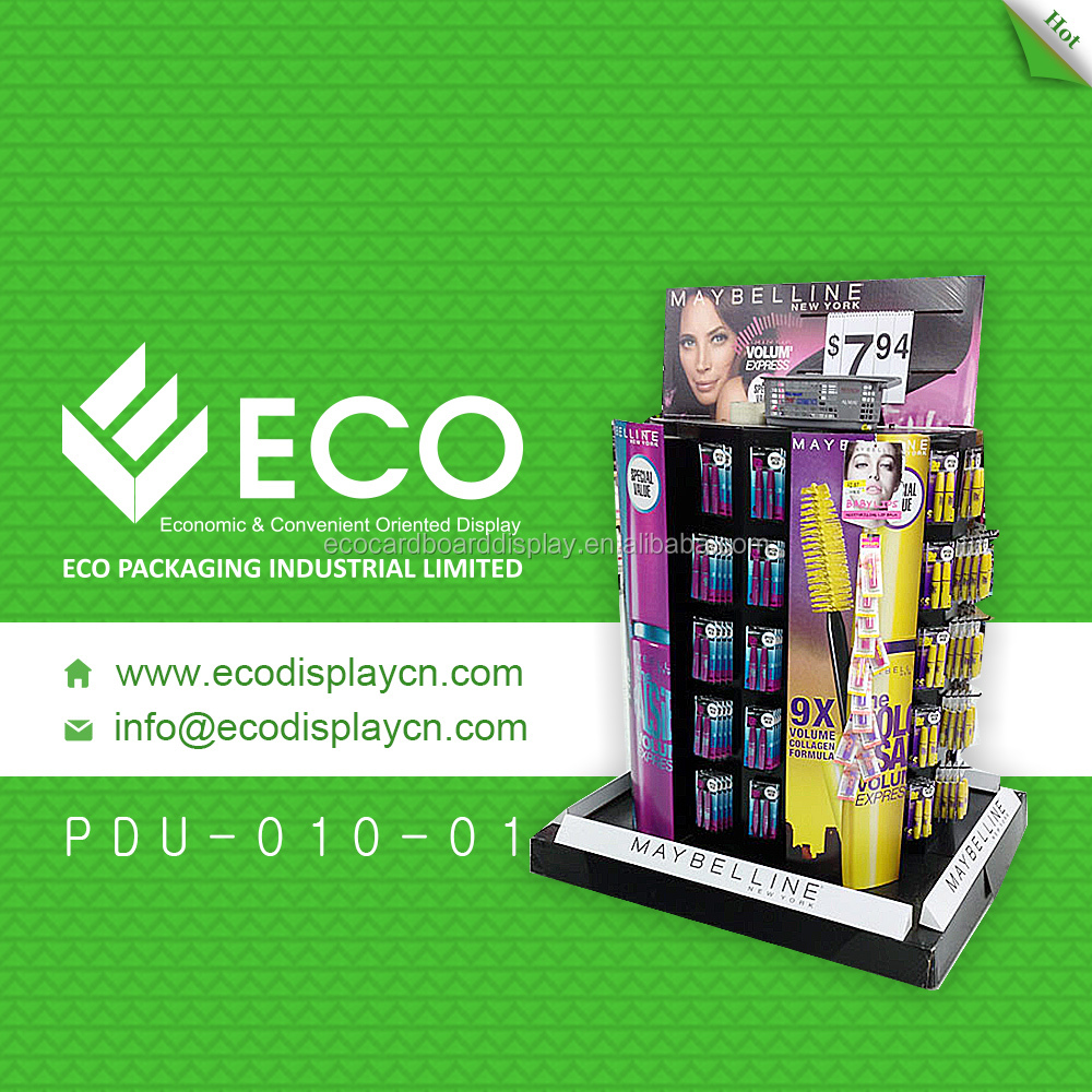 Colorful printing cardboard pallet display stand for cosmetic wholesale
