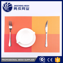 Customized color mesh pvc vinyl dining table placemats plastic
