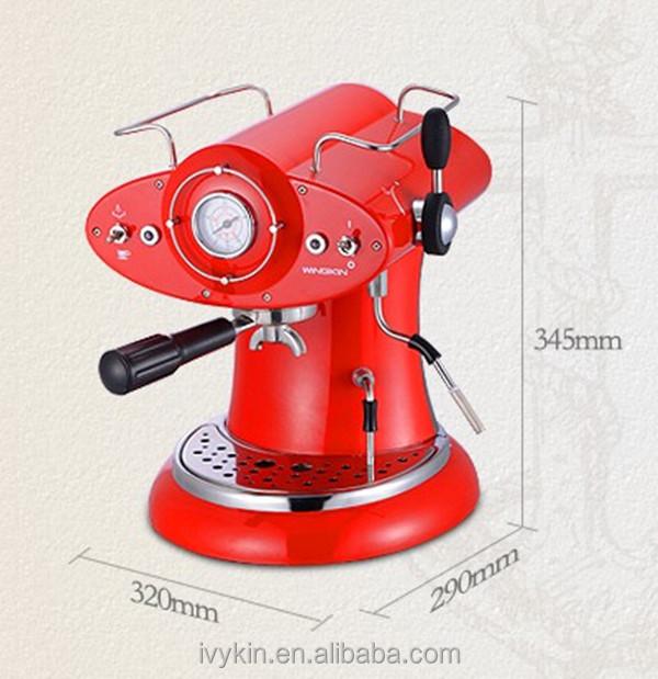 ariete marque conception caf r tro rouge espresso et. Black Bedroom Furniture Sets. Home Design Ideas