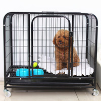 black dog kennel pet dog cages manufacturers for sale chiang mai
