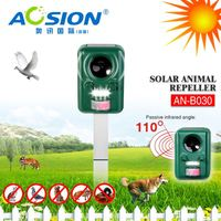 Aosion Brand Hot Selling Solar Rechargeable ultrasonic pest repeller effects on cats