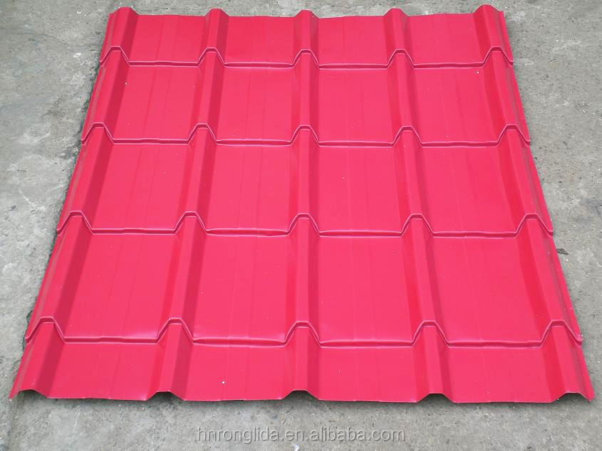 Hot sell prepainted corrugated steel color steel roofing price list / color steel tile/ roofing sheet