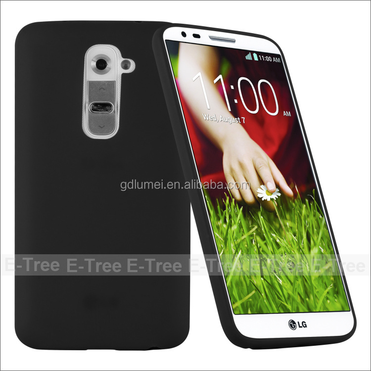 Candy Shell Shockproof Case Soft TPU Black Colot Cover Case for LG G2