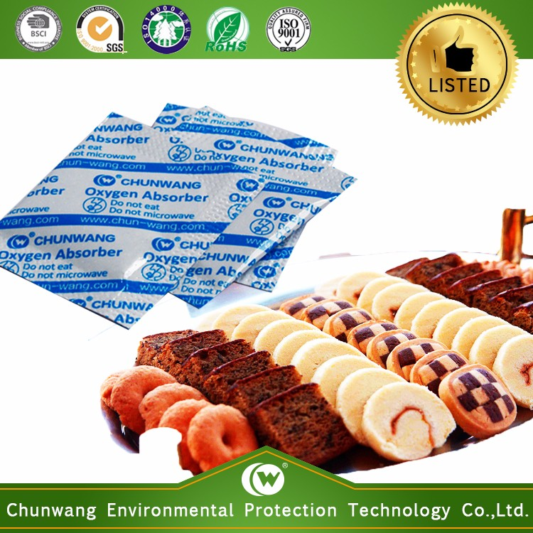 Chunwang FDA approved Oxygen Absorbent for Steamded Bread packing