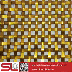 SHUOLONG stainless steel mesh rigid golden spray painting XY-3310P