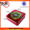 Food grade customized metal mooncake box with plastic inner tray