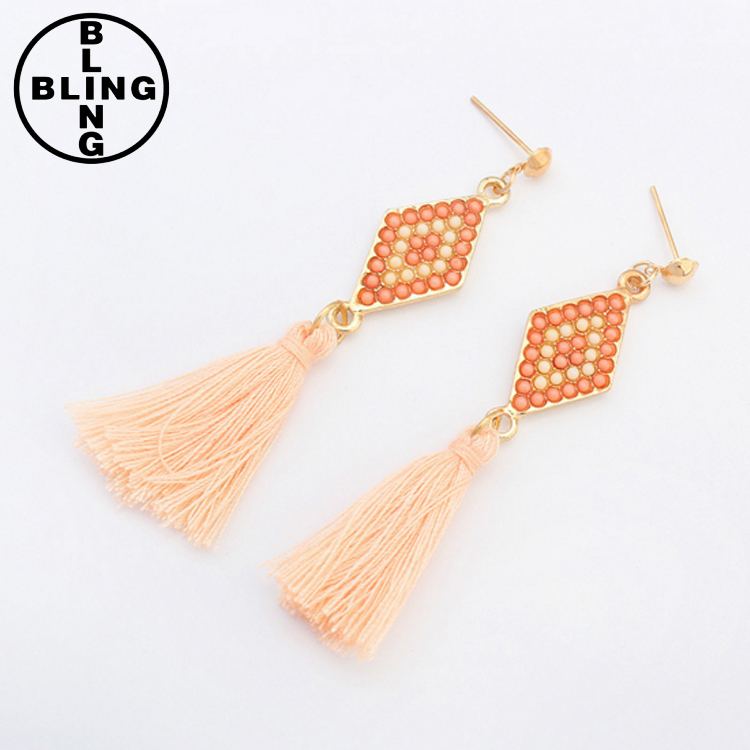 >>>Cheap wholesale earrings Fashion diamond tassels drop earrings