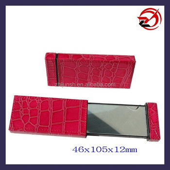 double sided slide Croc leather mirror