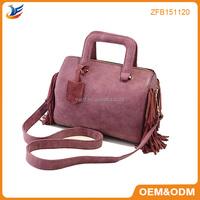 new European tassel lady leather handbag female bag made china wholesale handbags