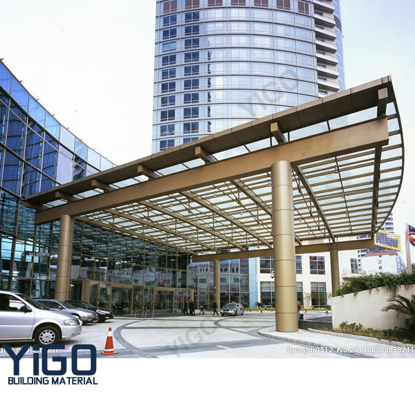 Tempered glass door canopy glass roof glass canopy for Glass roof design