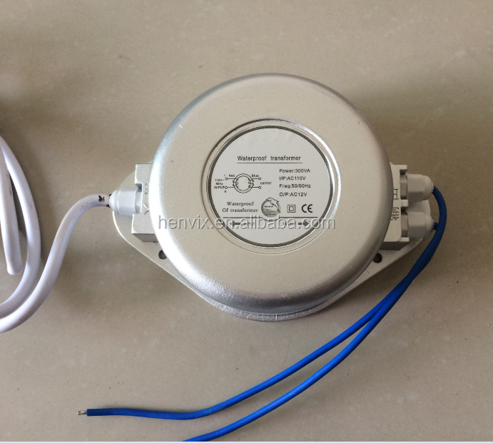 Waterproof AC12V 30W - 1000W swimming pool light transformers