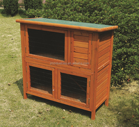 large wooden pet house dog kennel