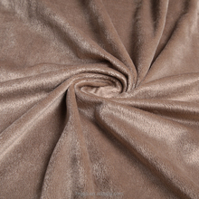 Best fashion warp knitted velvet super soft spun velvet polyester fabric weight