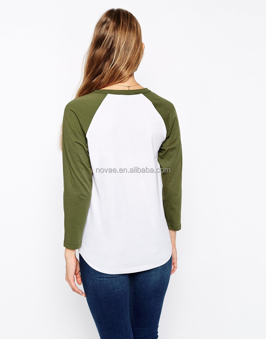 Raglan t shirt women high quality plain t shirt long for Good quality long sleeve t shirts