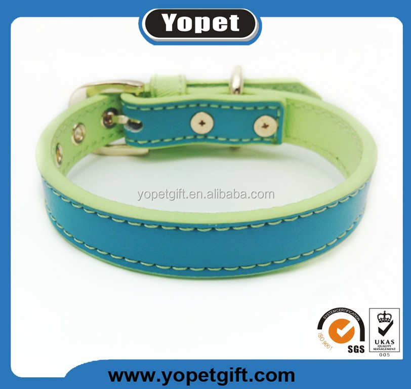 Manufacturer Custom Leather Pet Products Dog Collar For Puppy