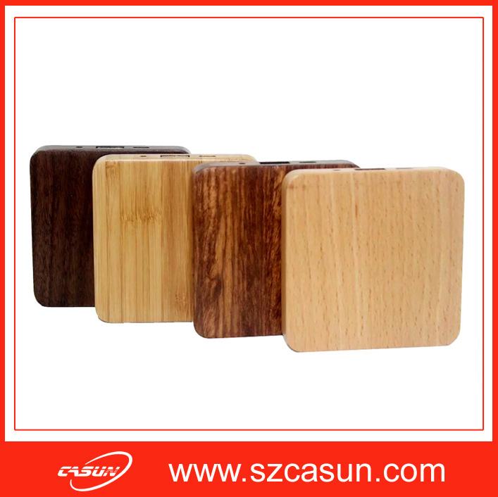 New products wooden power bank For cell phone