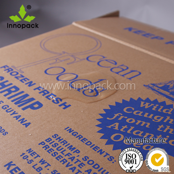 Waterproof Rigid Cardboard Seafood Box for Lobster, Crab Packaging