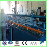 CNC control system automatic single wire chain link fence machine/double wrie chain link mesh making machine