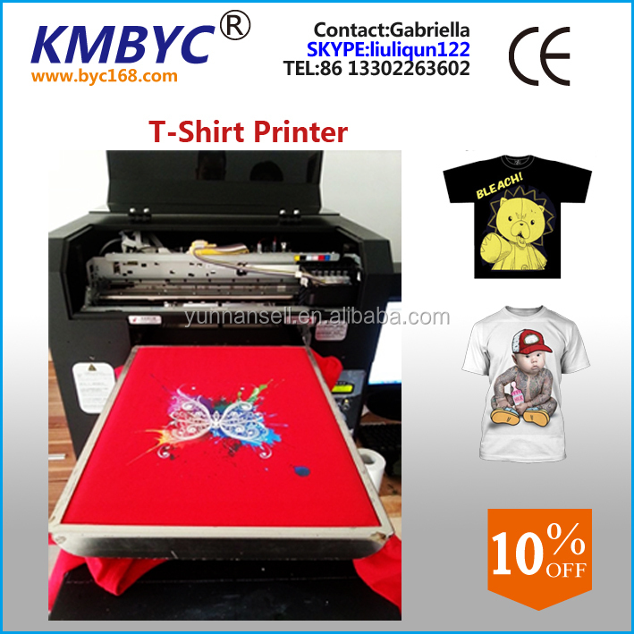 Digital dark textile DGT A3 cheap t-shirt printer