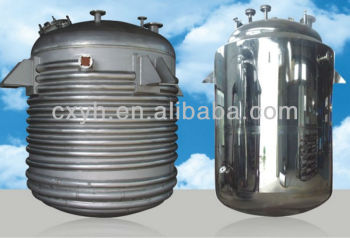 Outside-coil chemical reactor tank, mixing, hydrolysis