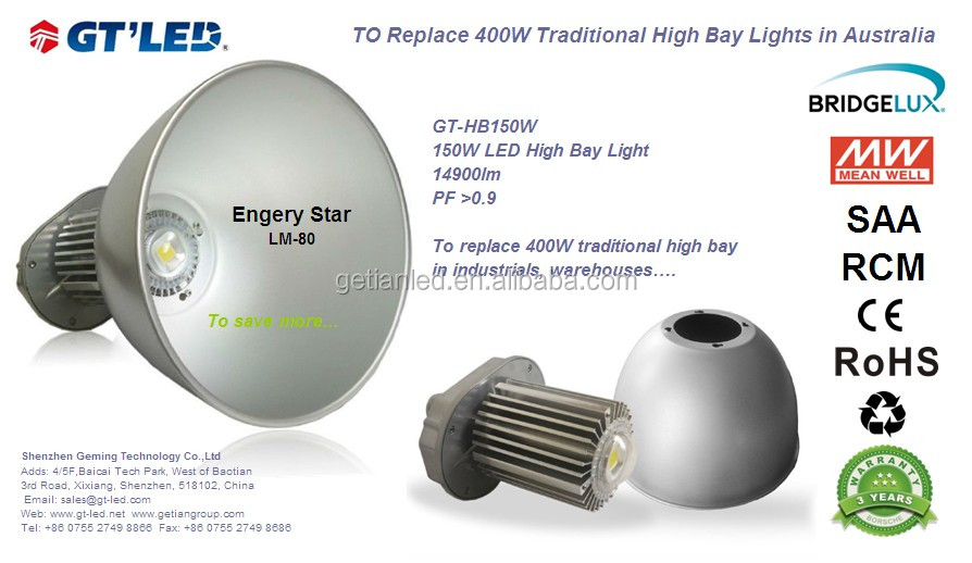 indoor factory explosion proof 120w led highbay light, 120 watt led warehouse lighting, high bay led lights for factory