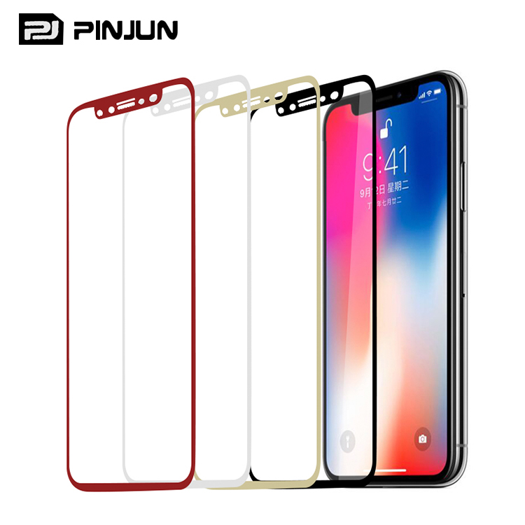 For Apple iPhone X Tempered Glass Premium 9H Full Cover 3D Curved Mobile Phone Tempered Glass Screen Protector for iPhone X