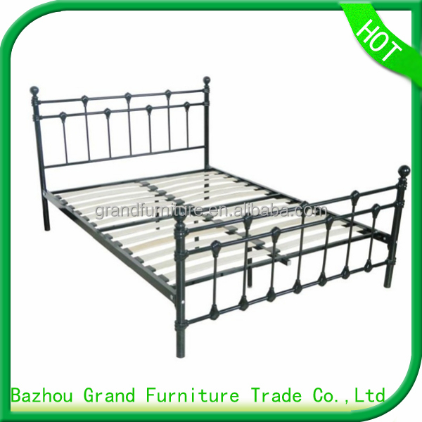 New Design metal european bed frame double bed for home furniture