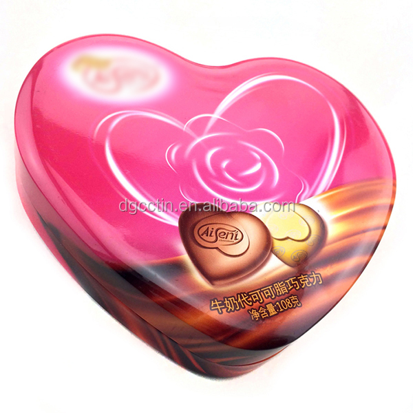 heart chocolate tin box luxury gift box packaging