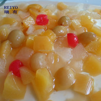 mixed fruit in tin